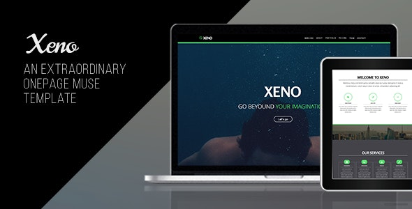 Xeno - One Page Muse Template - Creative Muse Templates