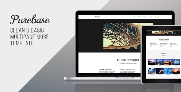 Purebase - Multipurpose Muse Template - Corporate Muse Templates