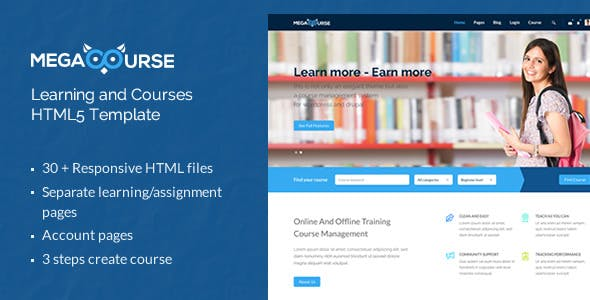 Megacourse - Learning and Courses HTML5 Template