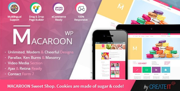 Macaroon Sweet Shop - Colorful WooCommerce Theme - WooCommerce eCommerce