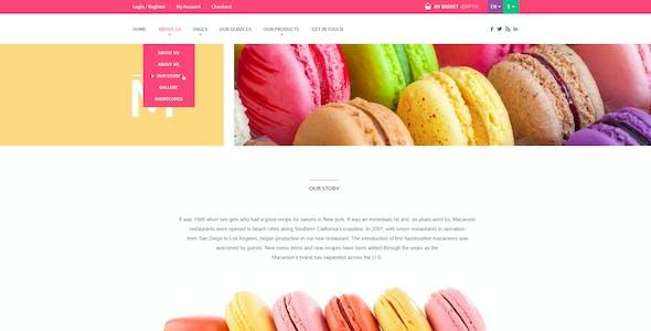 Macaroon Sweet Shop - Colorful WooCommerce Theme