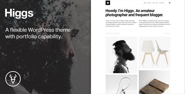 Higgs —A Minimal WordPress Portfolio & Blog Theme - Portfolio Creative
