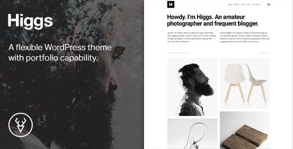 Higgs —A Minimal WordPress Portfolio & Blog Theme