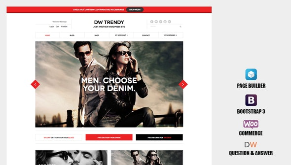 DW Trendy - Responsive WooCommerce WordPress Theme - WooCommerce eCommerce