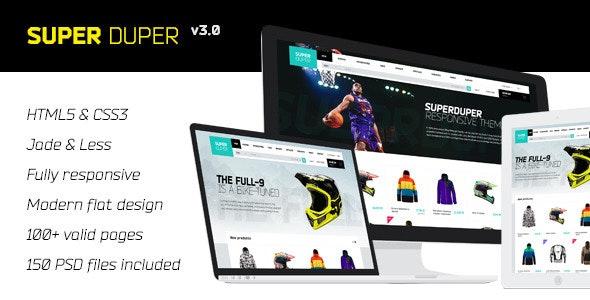 SuperDuper | HTML5 Template Responsive - Retail Site Templates