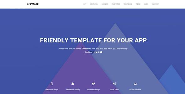 Appmate - Material Design App Landing Template