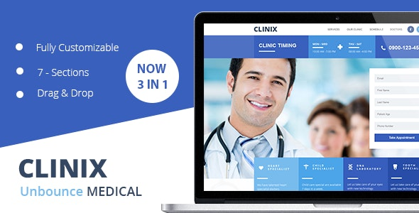 CLINIX Medical Unbounce Landing Page - Unbounce Landing Pages Marketing
