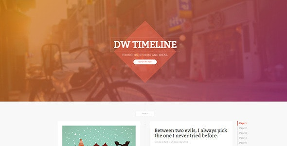 DW Timeline Ghost - Ghost Themes Blogging