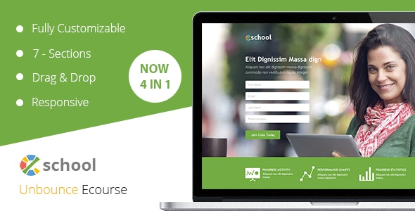 eSchool Unbounce Template - Unbounce Landing Pages Marketing