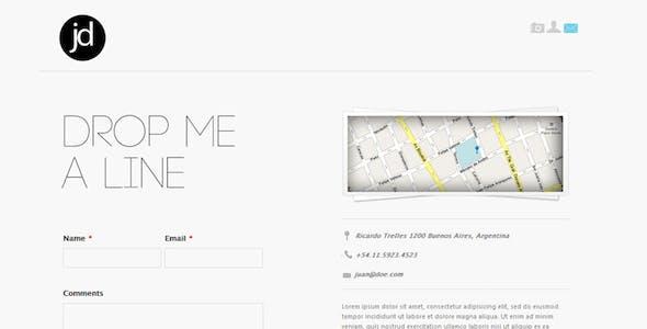 Time Goes Back: A Tumblr Portfolio Theme