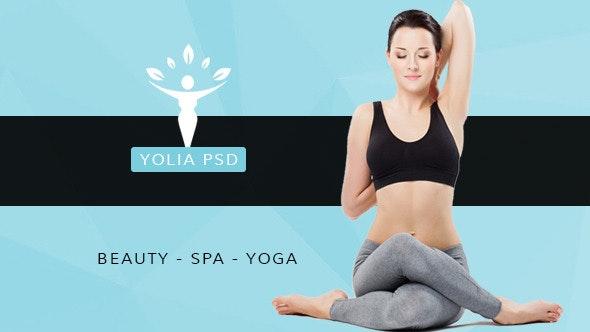Yolia - Beauty PSD Template - Photoshop UI Templates