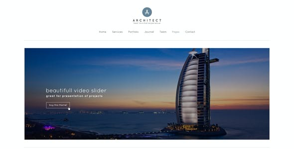 Architect - Minimal PSD Template for Architects