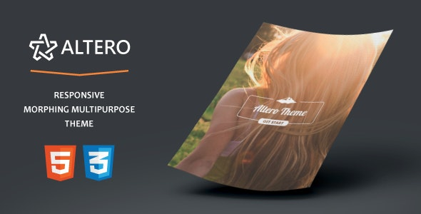 Altero - Responsive Morphing Multipurpose Template - Portfolio Creative