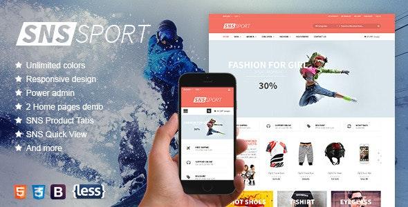 SNS Sport - Responsive Magento Theme - Magento eCommerce