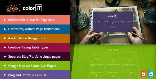 coloriT - Portfolio Single Page HTML - Creative Site Templates