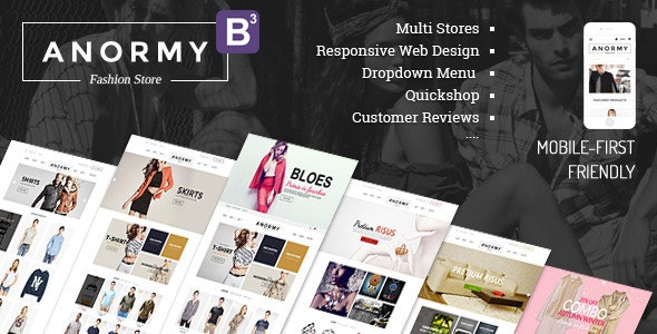 Anormy - Flexible Shopify Template - Shopify eCommerce