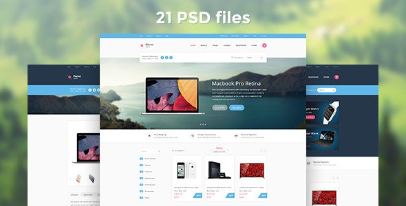 Planet Store - Ecommerce PSD Template - Shopping Retail