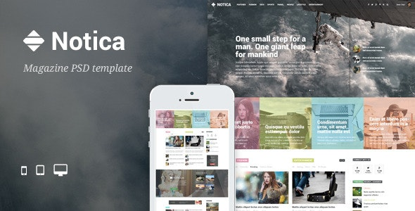 Notica - News Magazine PSD Template - Miscellaneous PSD Templates