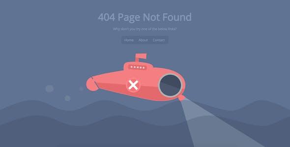 Submarine - SVG Animated 404 Page