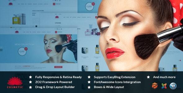 ZT Cosmetic Responsive Joomla Virtuemart Template  - Joomla CMS Themes