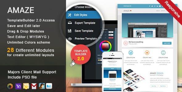 Amaze - Responsive Email + TemplateBuilder