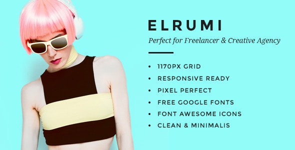Elrumi - Creative PSD Template - Creative Photoshop