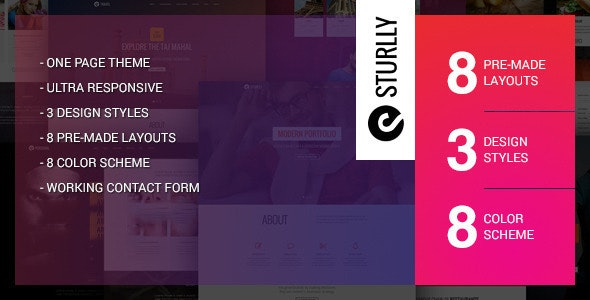 Sturlly - Responsive MultiPurpose WordPress Theme - Portfolio Creative