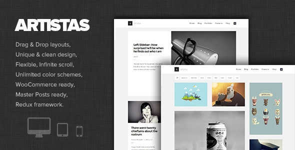 Artistas - Modern Portfolio & Blog Theme - Art Creative