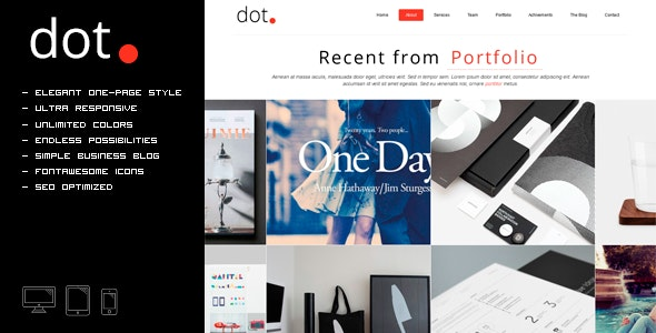 DOT - Creative One Page HTML Template - Creative Site Templates