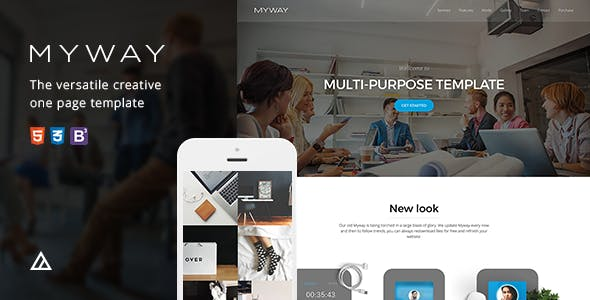 Myway - Onepage Bootstrap Parallax Retina Template by awerest