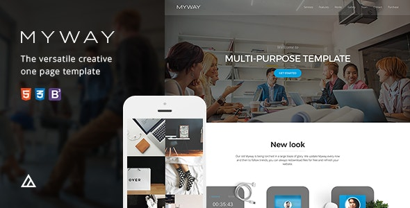 Myway - Onepage Bootstrap Parallax Retina Template - Creative Site Templates