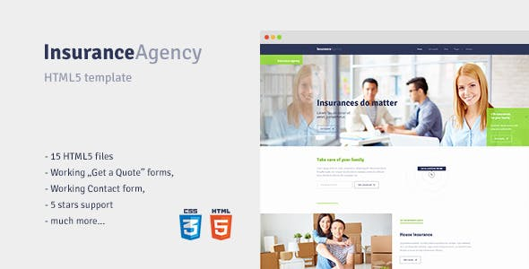 HTML5 template for Insurance Agency