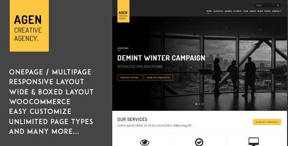 AGEN -  WordPress Boxed Creative Theme - Experimental Creative