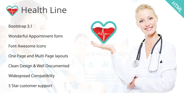 Health Line - Medic HTML Template - Health & Beauty Retail