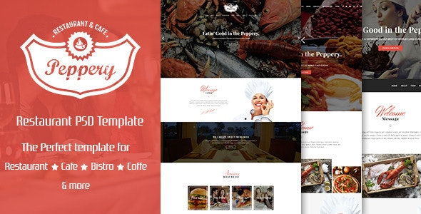 Peppery - Food & Restaurant PSD Template - Food Retail