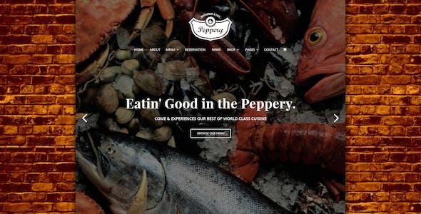 Peppery - Food & Restaurant PSD Template