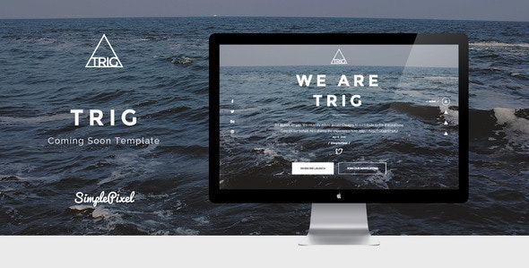 Trig - Creative Coming Soon Template - Under Construction Specialty Pages