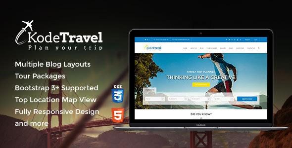 KodeTravel & Tourism HTML5 Template - Travel Retail