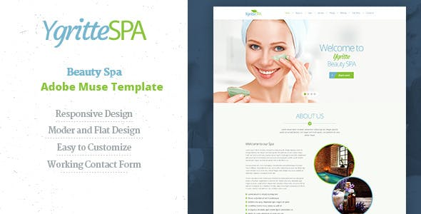 Ygritee Spa | Beauty Salon Muse Template