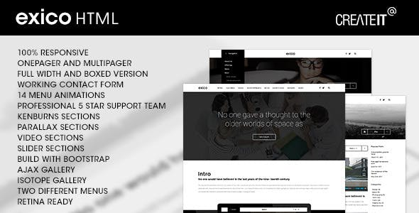 Exico - Corporate HTML Template