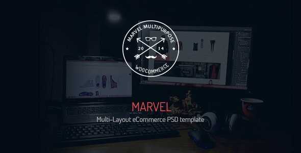 Marvel - Multi-Layout eCommerce PSD Template - Shopping Retail