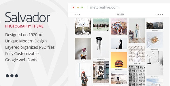 Salvador - Clean Photography Theme - Photography Creative
