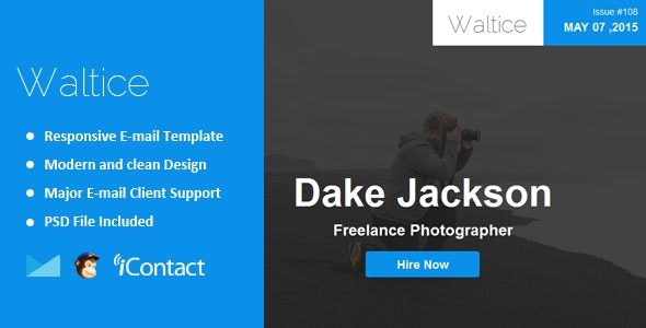 Waltice - Responsive Email + Themebuilder Access - Email Templates Marketing