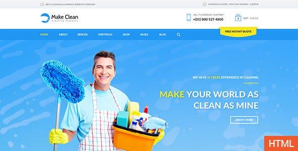 Make Clean - Responsive HTML Template