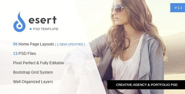 Desert - Agency & Portfolio PSD Template - Portfolio Creative