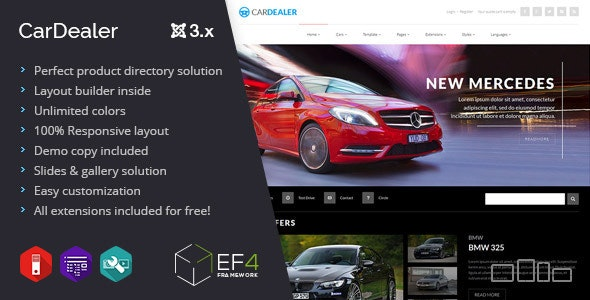Car Dealer - multipurpose product directory - Business Corporate