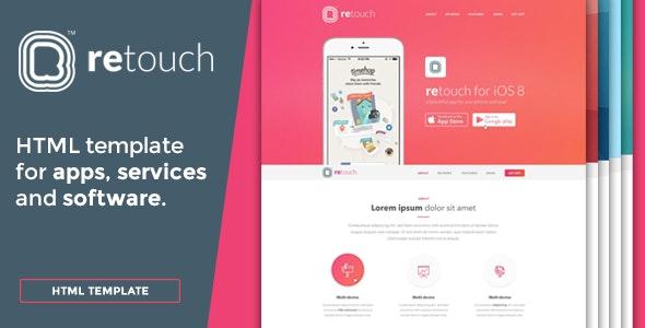 ReTouch App - App HTML Template - Software Technology