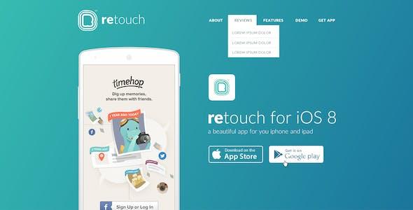 ReTouch App - App HTML Template