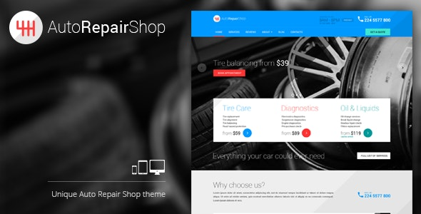 AutoRepairShop - Car Mechanic Shop WordPress theme - Business Corporate