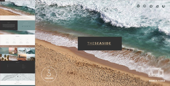 Seaside One Page HTML Template  - Creative Site Templates